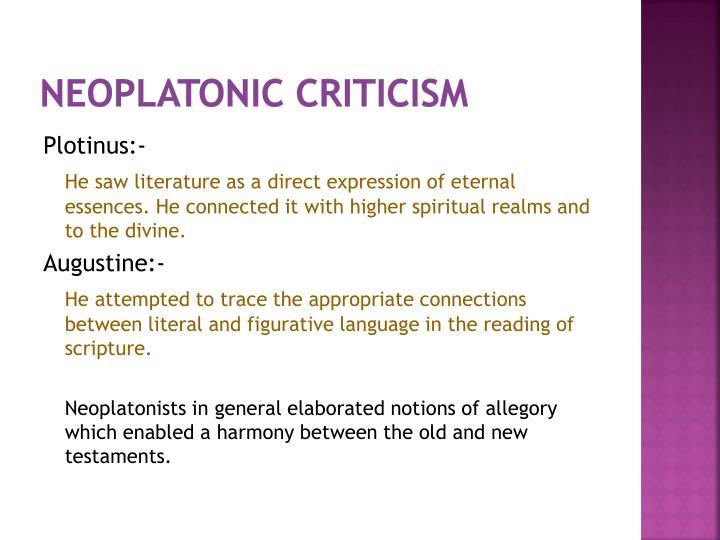 Neoplatonic Criticism