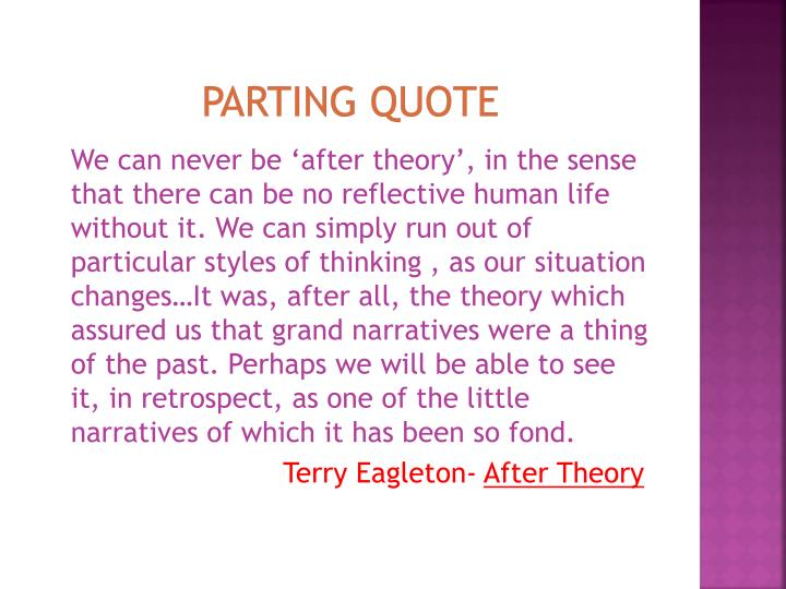Parting quote