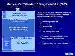 medicare s standard drug benefit in 2009