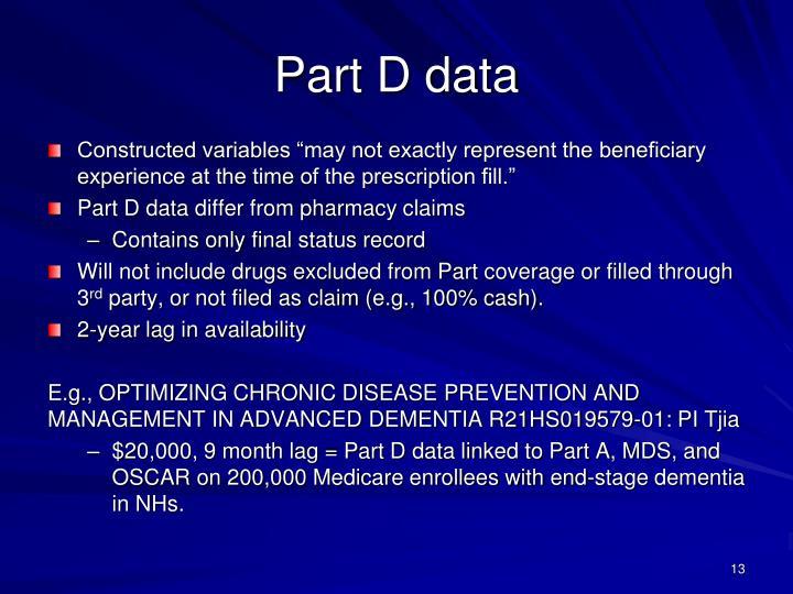 Part D data