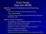 study design data from mcbs