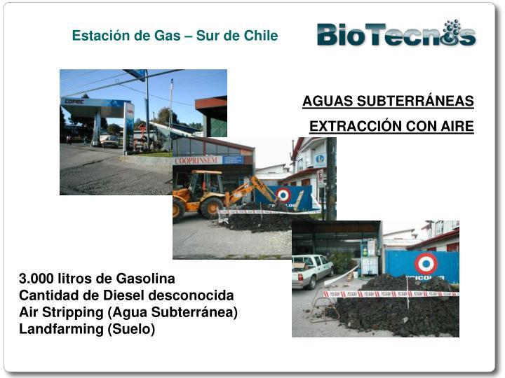 Estación de Gas – Sur de Chile