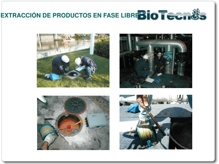 EXTRACCIÓN DE PRODUCTOS EN FASE LIBRE