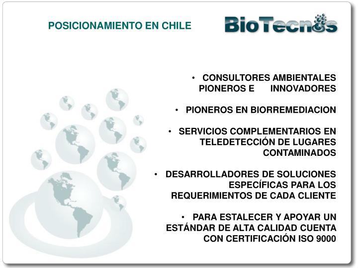 POSICIONAMIENTO EN CHILE