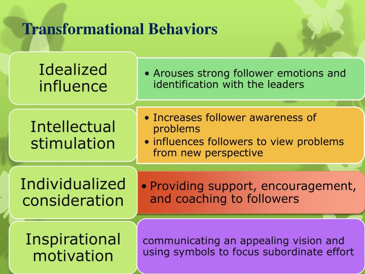 Transformational Behaviors