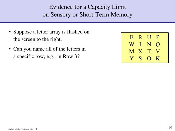 Evidence for a Capacity Limit