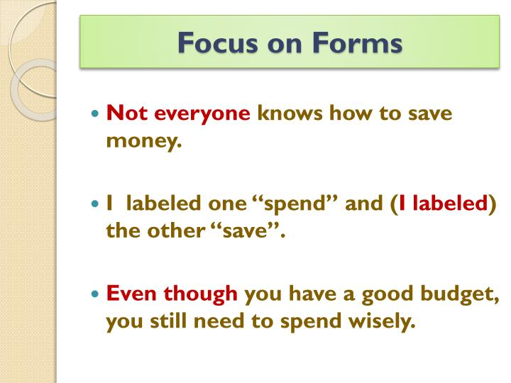 Focus on Forms