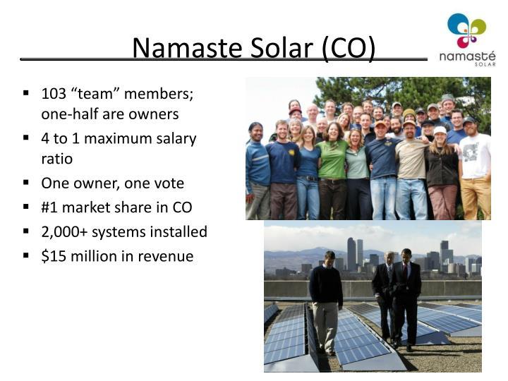 Namaste Solar (CO)