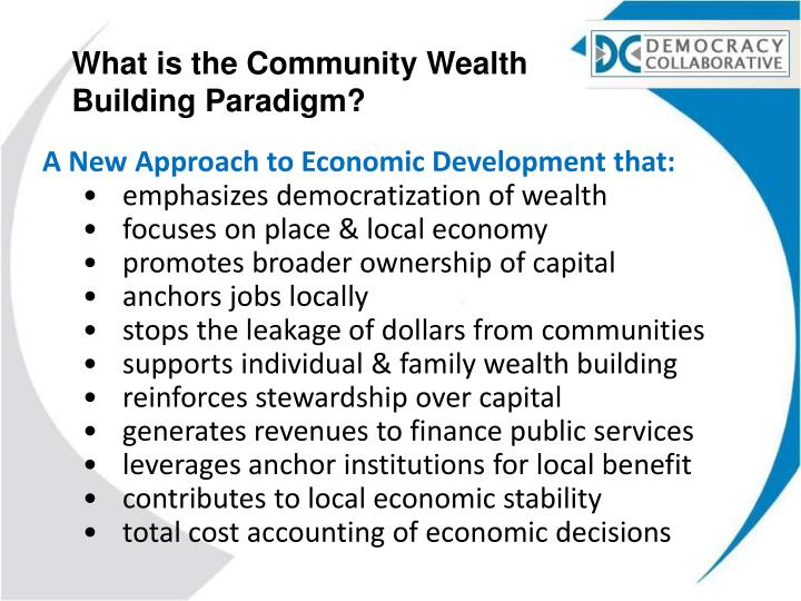What is the Community Wealth Building Paradigm?