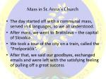 m ass in st anna s church