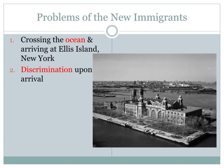 Problems of the New Immigrants