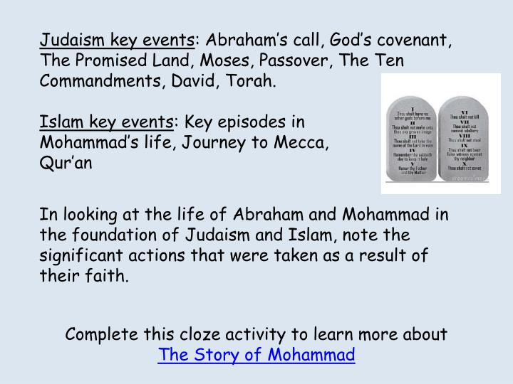 Judaism key events