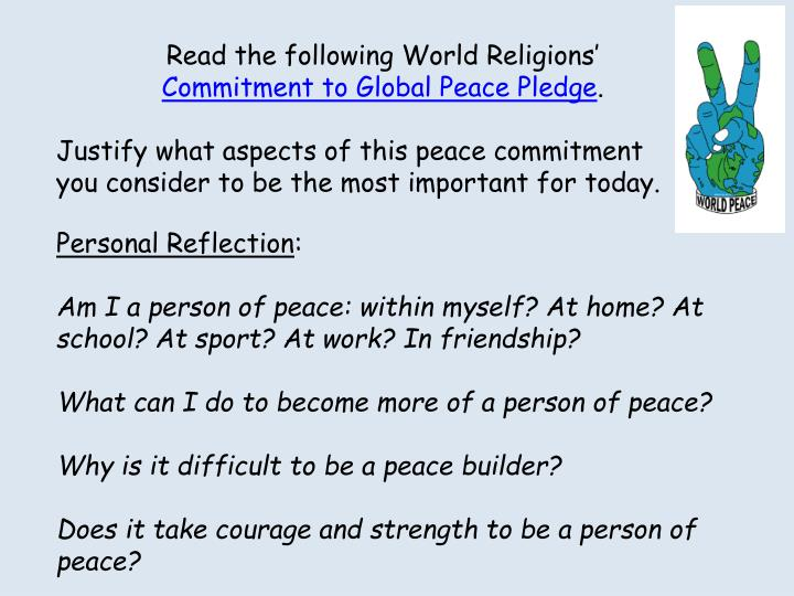 Read the following World Religions'