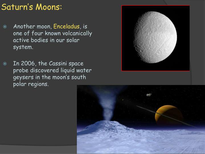 Saturn's Moons: