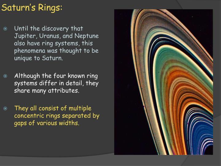 Saturn's Rings: