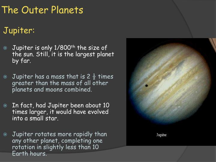 The outer planets1