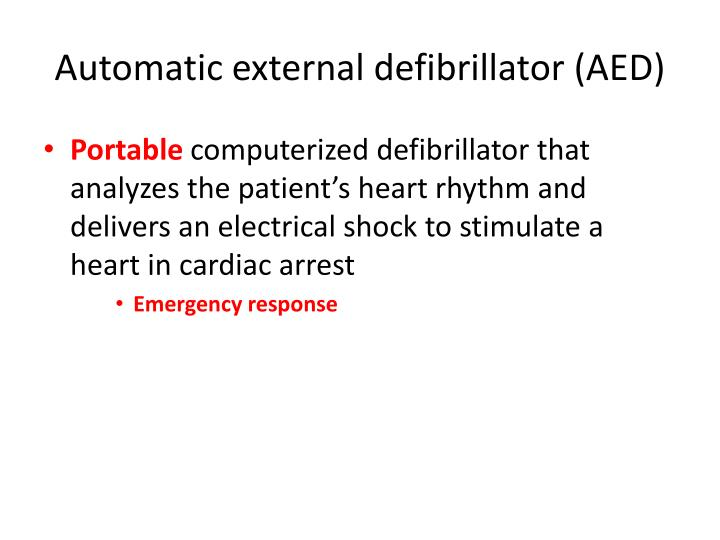 Automatic external defibrillator aed
