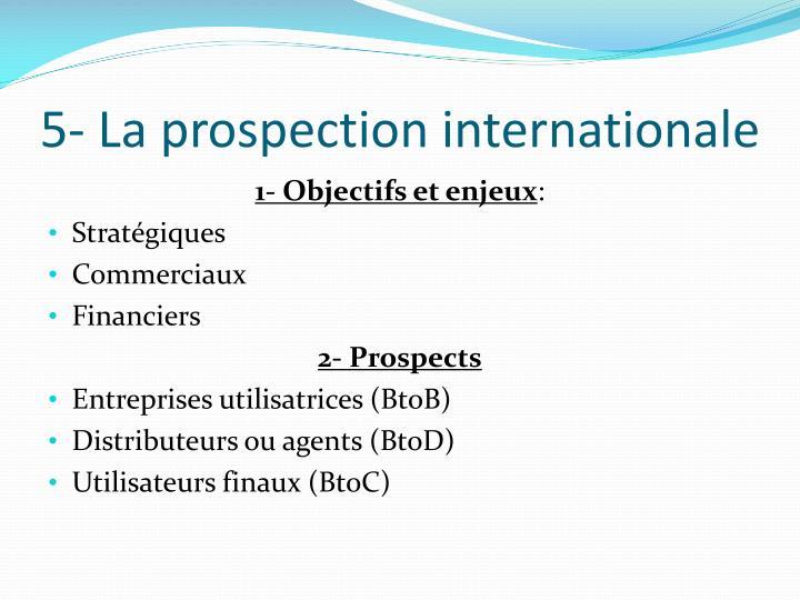 5- La prospection internationale