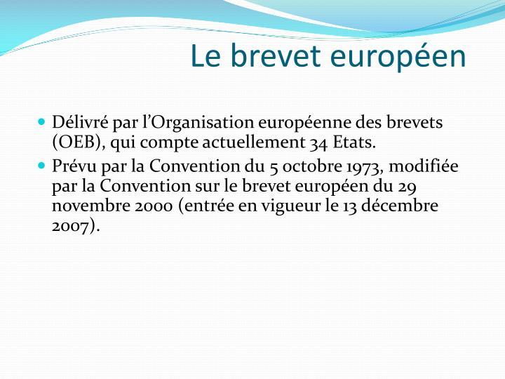 Le brevet européen