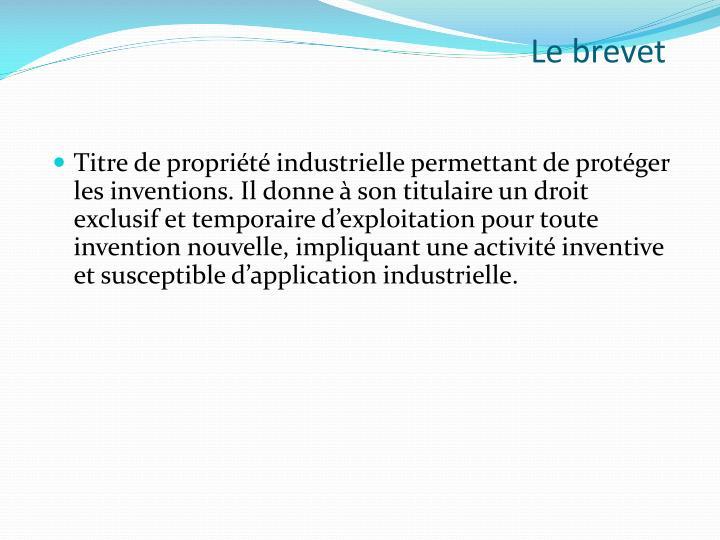 Le brevet