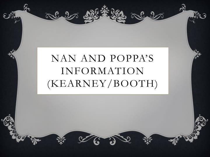 Nan and poppa's