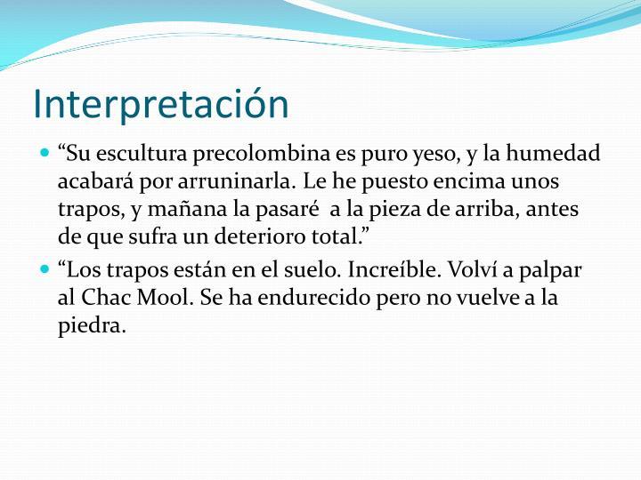 Interpretación