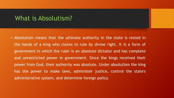 What is Absolutism?