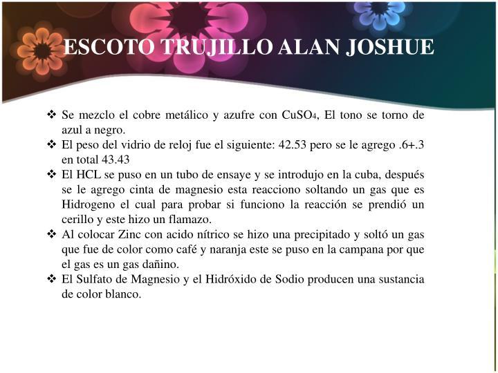 ESCOTO TRUJILLO ALAN JOSHUE