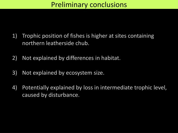 Trophic position of fishes is higher at sites containing northern leatherside chub.
