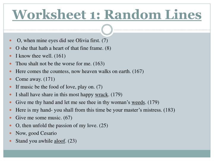 Worksheet 1: Random Lines