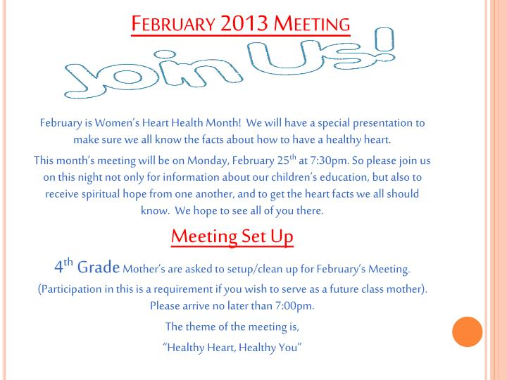 February 2013 Meeting