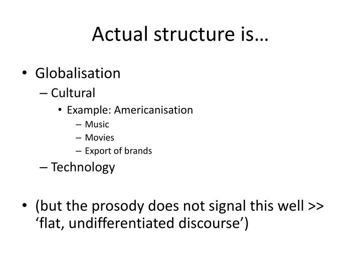 Actual structure is…
