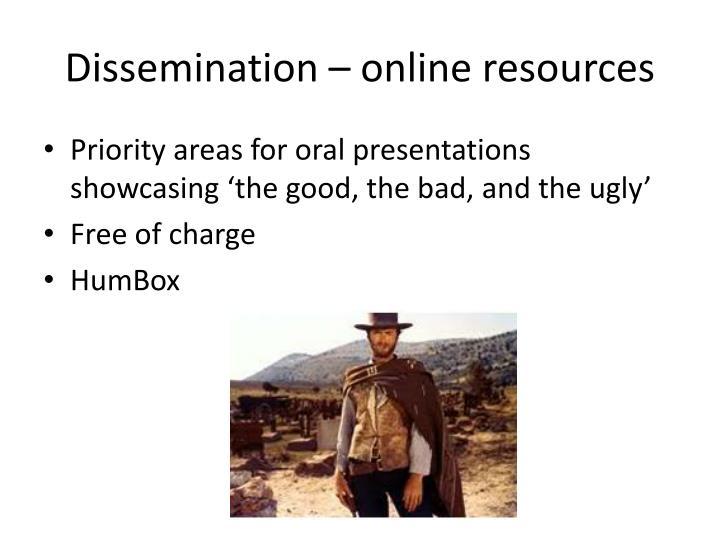 Dissemination – online resources