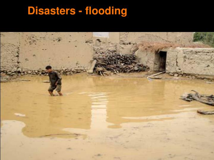Disasters - flooding