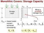 monolithic covers storage capacity1