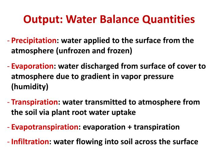 Output: Water