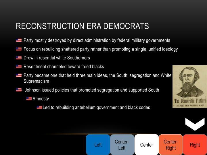 Reconstruction Era Democrats