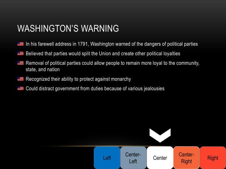 Washington's Warning
