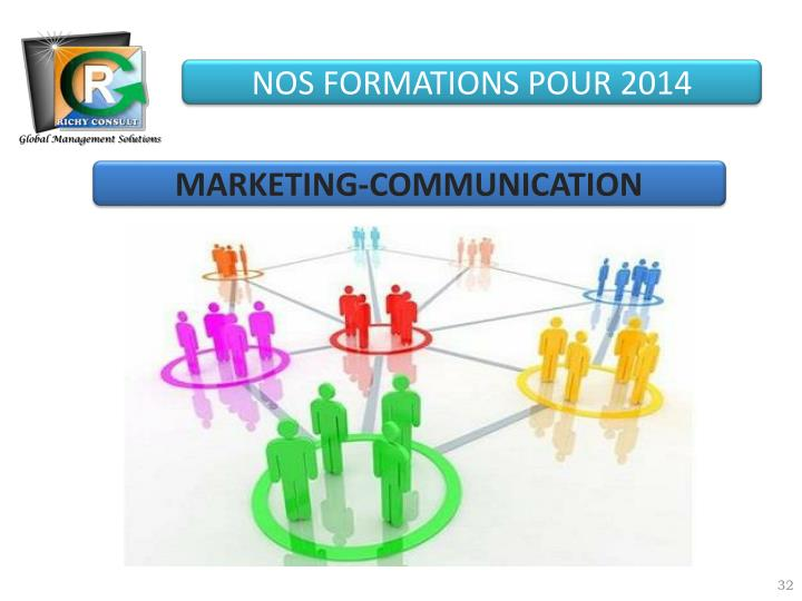 NOS FORMATIONS POUR 2014