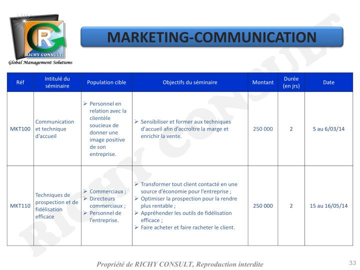 MARKETING-COMMUNICATION