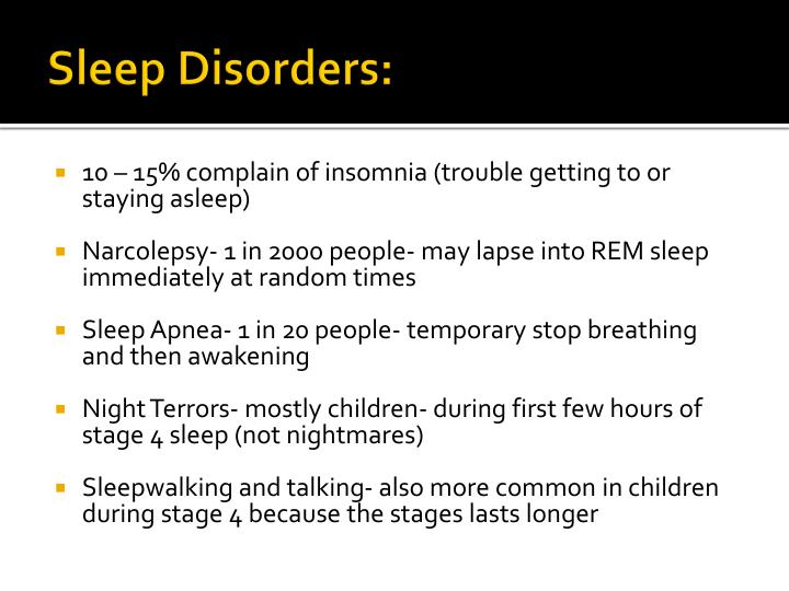 Sleep Disorders:
