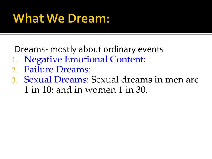 What We Dream: