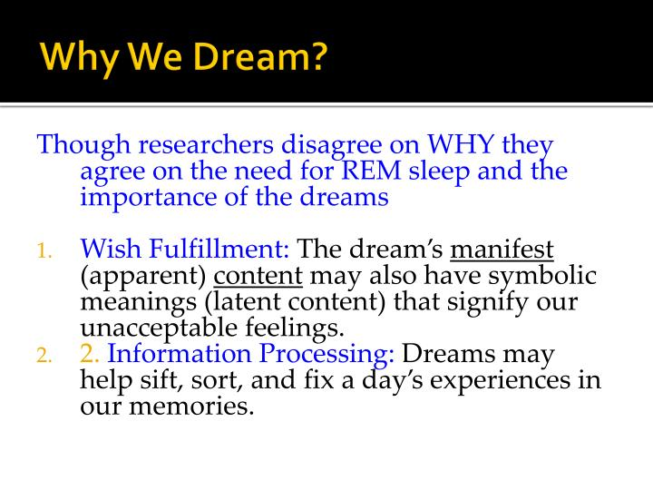 Why We Dream?