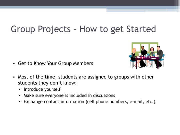Group projects how to get started