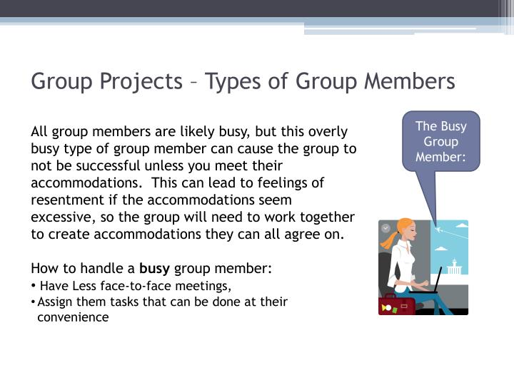 Group Projects – Types of Group Members