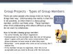 group projects types of group members3