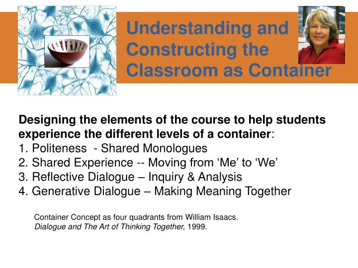 Understanding and Constructing the Classroom as Container