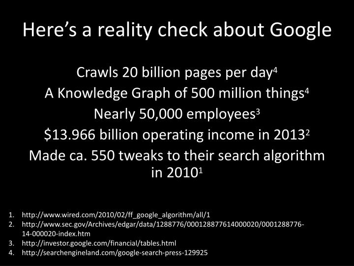 Here's a reality check about Google