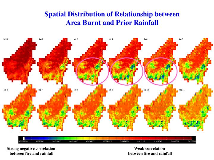 Spatial Distribution of Relationship between