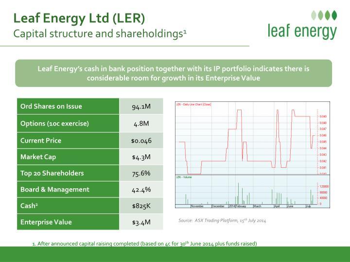 Leaf Energy Ltd (LER)